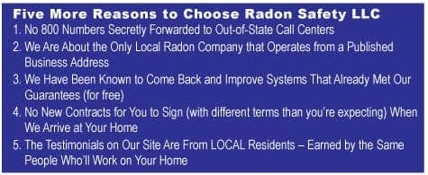 Reasons To Choose Radon Safety LLC